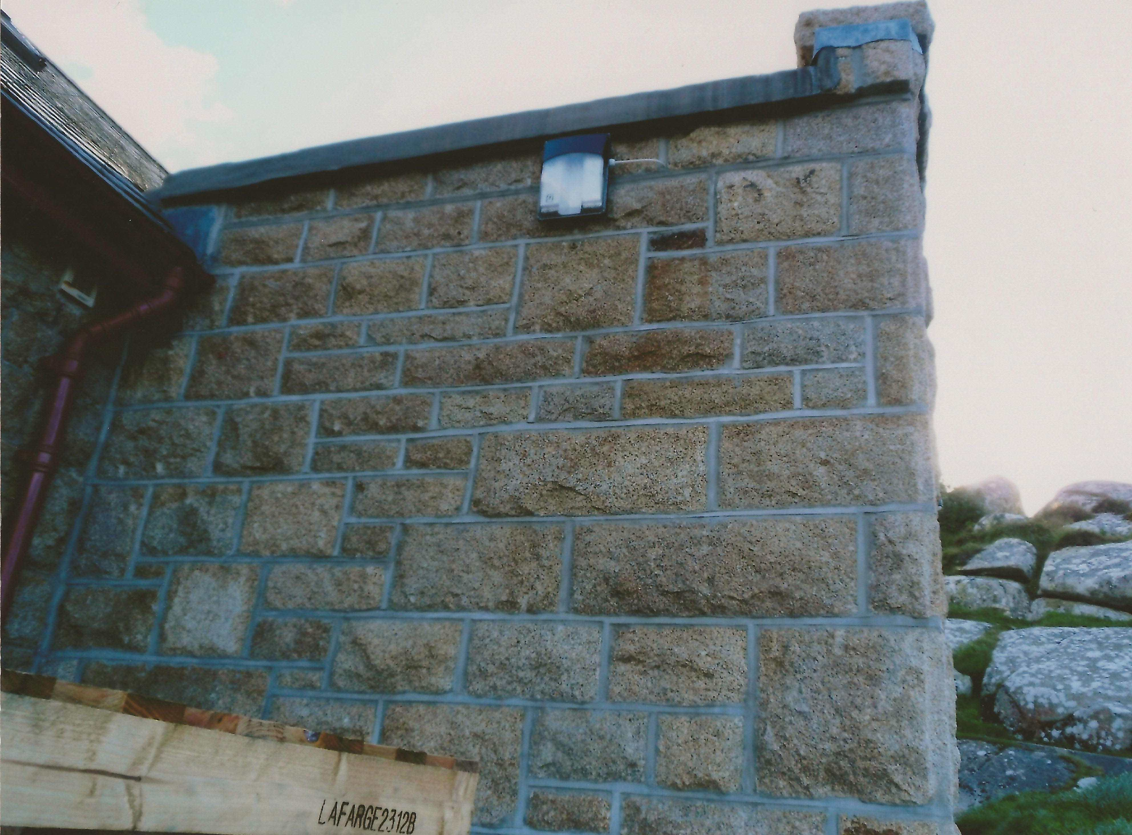 Repointed end wall